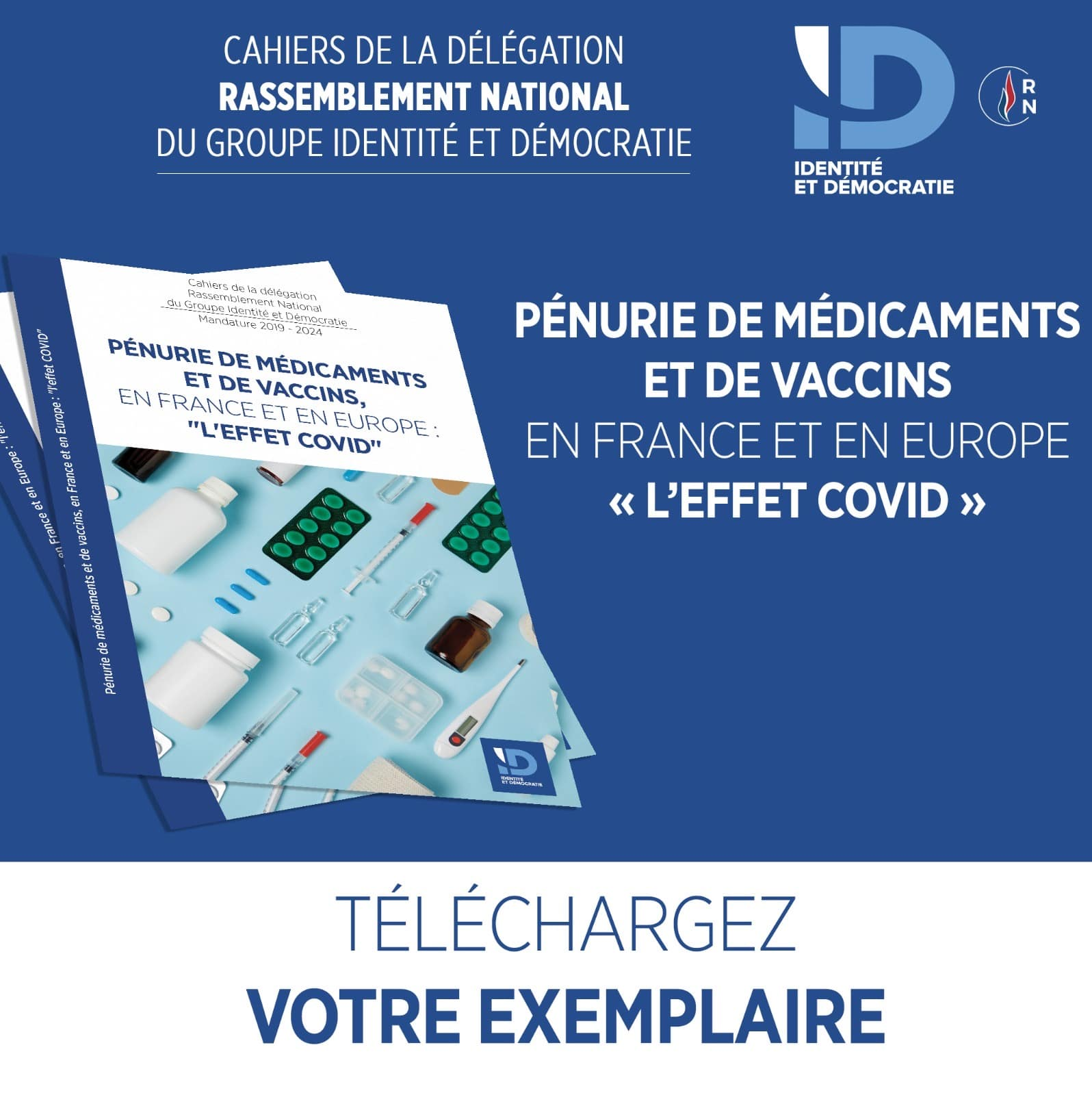 Retrouvez le livret sur la PÉNURIE DE MÉDICAMENTS ET DE VACCINS, EN FRANCE ET EN EUROPE : «L'EFFET COVID»